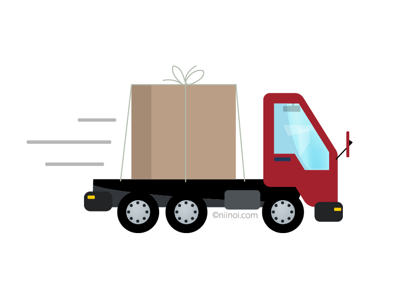 Free Delivery Truck Royalty Free Image